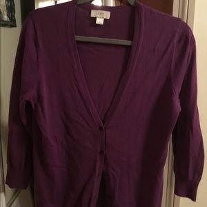 Pretty purple cardigan from Loft